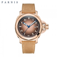 44mm Parnis Wristwatch 8215 Automatic Movement Luminous Dial Sapphire Mens Watch
